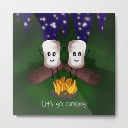 Let's Go Camping! Metal Print