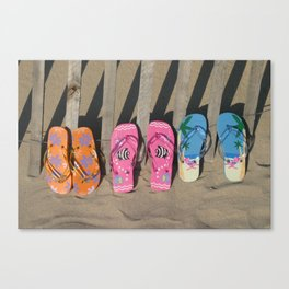 Flip Flopp'd Canvas Print