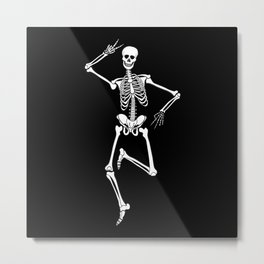 Skeleton dancing Metal Print