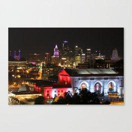 Kansas City At Night Canvas Print