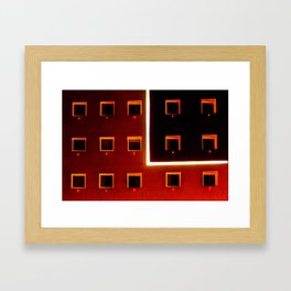 Luz y color - Hotel Framed Art Print