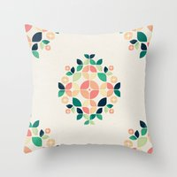 Throw Pillows featuring The Bouquet by VessDSign