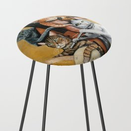 Cat Quartet Counter Stool