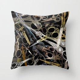 Vintage Scissors Throw Pillow