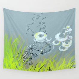 Squid Redone Wall Tapestry