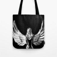 angel wings Tote Bags featuring Angel Wings by Shaunia McKenzie