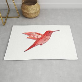 Red hummingbird colibri. Rug