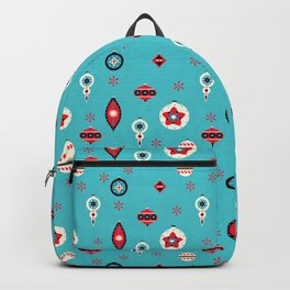 Retro Christmas Baubles Backpack