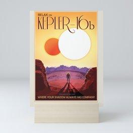 Kepler-16b - NASA Space Travel Poster Mini Art Print