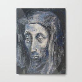 Face of Jesus Metal Print
