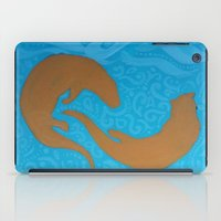 otters iPad Cases featuring Two Otters by LegendOfZeldy