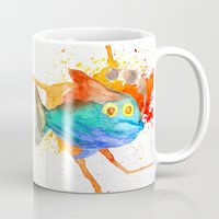 smoking Mugs featuring Smoking fish by gunberk