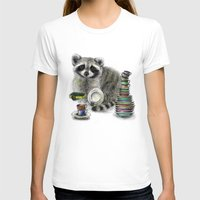 raccoon T-shirts featuring Raccoon by Anna Shell