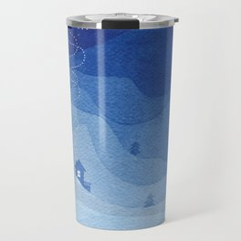 Stars factory, blue Travel Mug