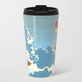 A boy, a box and two bassets hounds_Sky Travel Mug