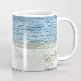 Blue Ocean Seascape, Sea Wave Photography, Pacific Coastal Landscape, Beach Seashore Coffee Mug