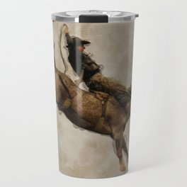 Western-style Bucking Bronco Cowboy Travel Mug