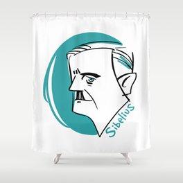 Jean Sibelius #4 Shower Curtain