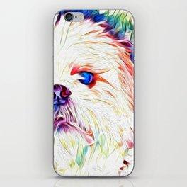 Shih tzu Rainbow Art iPhone Skin