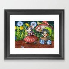 Mama Mouse Framed Art Print