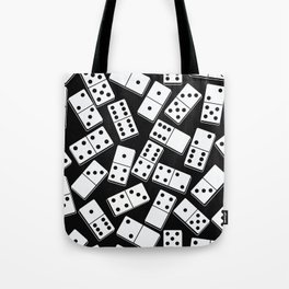 Black and white domino seamless pattern Tote Bag