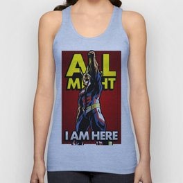 All Might Here Red Unisex Tank Top