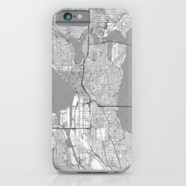 Seattle Map Line iPhone Case