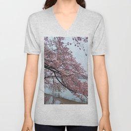 Cherry Blossum Test Unisex V-Neck