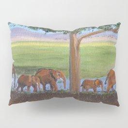 African Elephants Pillow Sham