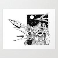 starfox Art Prints featuring Starfox Team by Pajarona