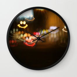 Smiley smile bokeh Wall Clock