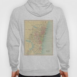 Vintage Map of Madras India (1909) Hoody