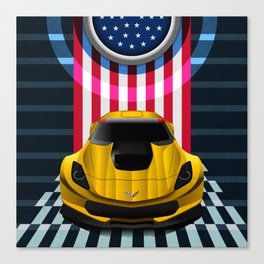 The Yellow King Corvette C7 Canvas Print
