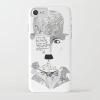 chaplin iPhone & iPod Cases featuring C. Chaplin by Ina Spasova puzzle