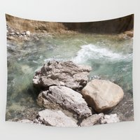 allyson johnson Wall Tapestries featuring Johnson Canyon rocks by RMK Creative