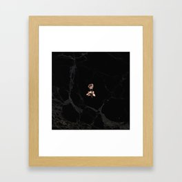Forever Petal (Black Rose) Framed Art Print