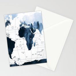 ALLOVER THE WORLD-Woods fog map Stationery Cards