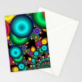 round and colorful -2- Stationery Cards