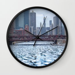 Winter in Chicago Wall Clock