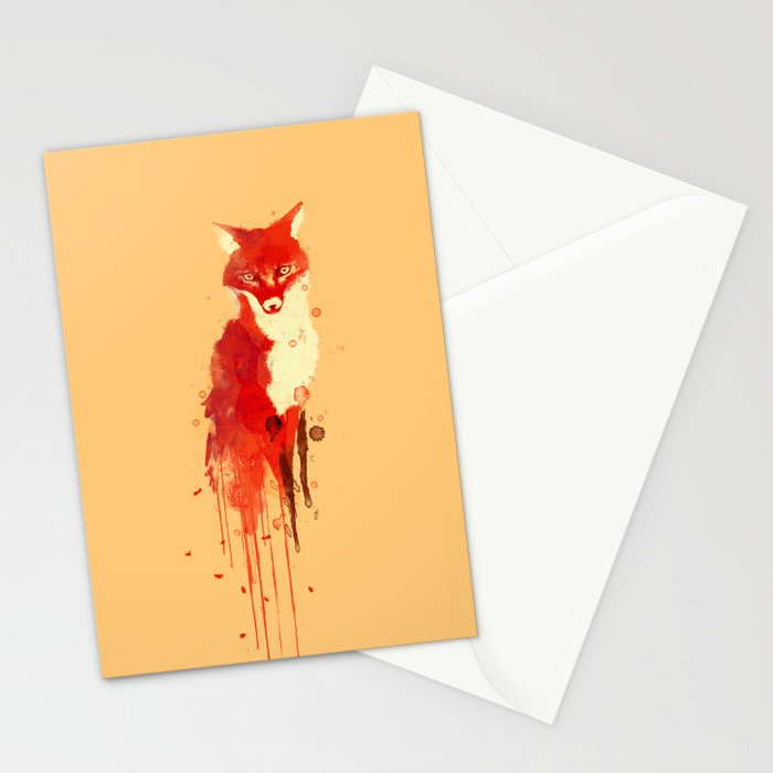 The fox, the forest spirit Stationery Cards