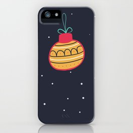 Merry Christmas and a Happy New Year Bauble Print iPhone Case