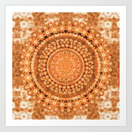 Boho Pumpkin Spice Mandala Art Print