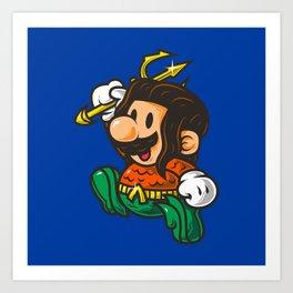 Super Jump AQM Art Print