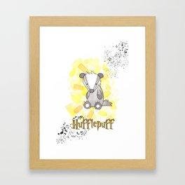 Hufflepuff - H a r r y P o t t e r inspired Framed Art Print
