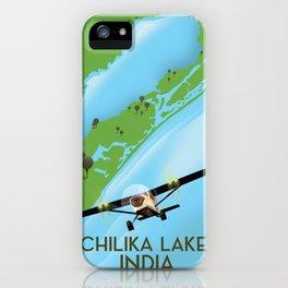 Chilika Lake India travel poster iPhone Case