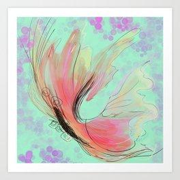 Translucent butterfly Art Print
