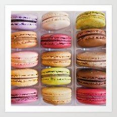 French Macarons  Art Print