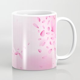 Pink petals in the wind Coffee Mug