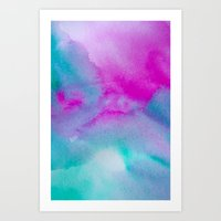 aurora Art Prints featuring Aurora by elena + stephann