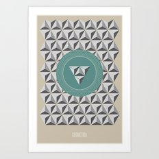 Geometria | Blue Art Print
